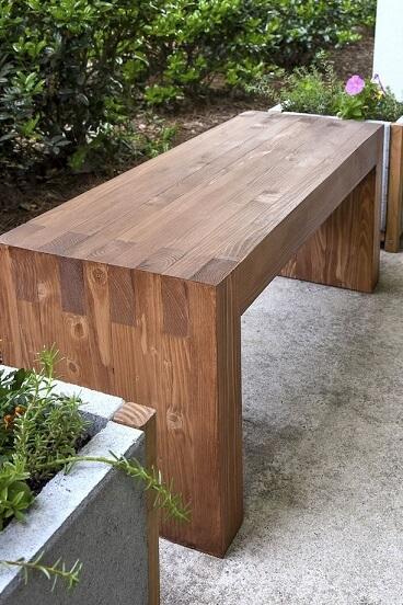 Banca din lemn in stil modern, fara suruburi