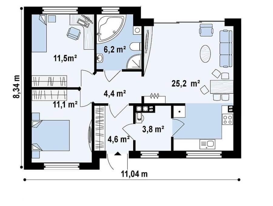 Planul casei de 30000 euro