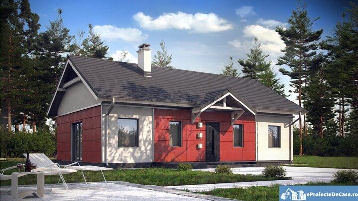 Proiect casa fara etaj ieftina si frumoasa