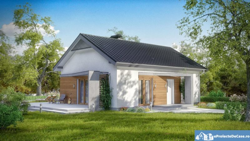 Proiect casa ieftina cu mansarda