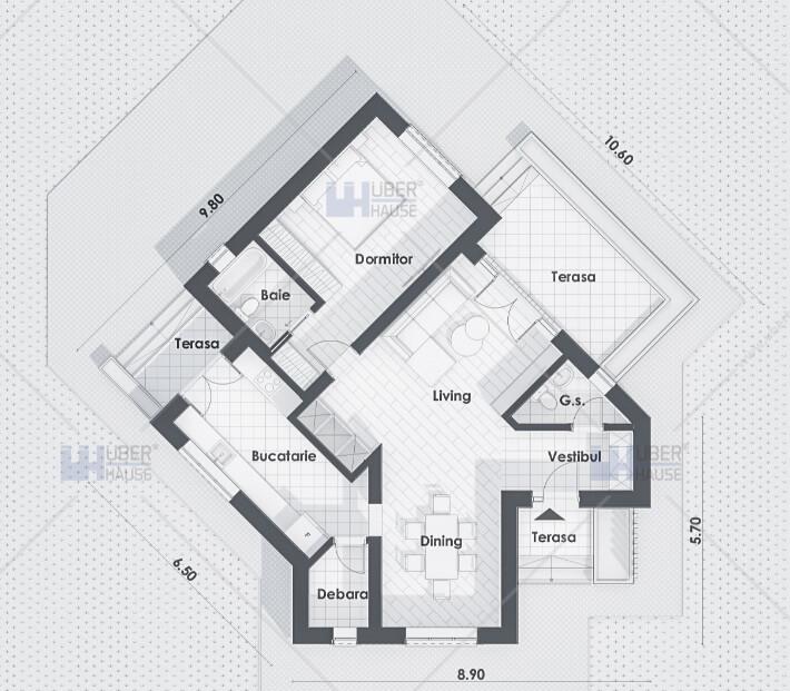 Proiecte case mici si ieftine fara etaj