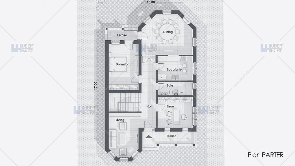 plan casa de lux moderna