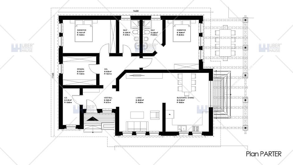 Plan proiect casa traditionala romaneasca